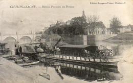 D71  CHALON SUR SAONE  Bateau Parisien Au Ponton - Chalon Sur Saone