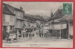 01 BELLEGARDE ( AIN ) ANIMEE..POSTE DE LA DOUANE. CAFE PERTE DU RHONE. COMMERCES.. CHARETTE ...C3927 - Bellegarde-sur-Valserine