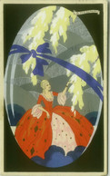 MESCHINI SIGNED 1930s HAND PAINTED / DIPINTA A MANO / POCHOIR - WOMAN - BALLERINI & FRATINI 125 / ARS NOVA  (1790) - Andere Zeichner