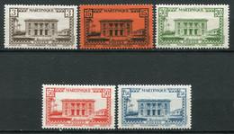 22374 MARTINIQUE  N°191/5** Type N Sans RF  1942-44  TB - Unused Stamps
