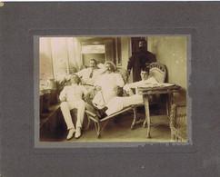 C21 E) Portugal Madeira Fotografia Antiga Grupo Em Alpendre Albumina Albumen - Antiche (ante 1900)