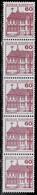 Bund 1979,Michel# 1028 O Burgen Und Schlösser 5er-Streifen Mit Nr. 025 - Roller Precancels