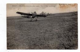 """Dole. Fete D'aviation Du 9 Juin 1912. """"un Atterissage"""" - Dole"""