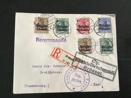 Départ 1€: Belgique Lettre Recommandée Avec Censure Pour Le Luxembourg 1915 - Andere Brieven