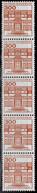 Bund 1982,Michel# 1143 O Burgen Und Schlösser 5er-Streifen Mit Nr. 100 - Roller Precancels