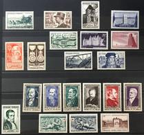 1952 (*) MH  Année Complète YT 919 à 939 - 21 Valeurs Neufs (côte 70 Euros) France – Kr4lot - 1950-1959