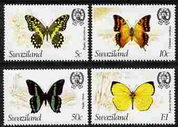 Swaziland 1982 Butterflies The Set Of 4 Each With Wmk To Right Of CA (as Seen From The Back) U/M SG 393-6 Plus Photocopy - Swaziland (1968-...)