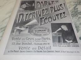 5ANCIENNE PUBLICITE CARTE POSTALE QUI PARLE LA SONORINE 1905 - Other