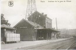 Thuin Intérieur De La Gare De L'ouest - Gares - Sans Trains