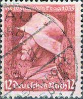 4708 Mi.Nr. 570 Deutsches Reich (1935) Gedenktag Für Die Gefallenen Des 1. Weltkriegs Gestempelt - Gebraucht