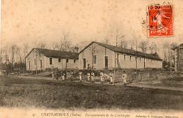 36. CPA - CHATEAUROUX - Baraquements De Saint Christophe - Soldats - 1914 - Scan Du Verso - - Chateauroux
