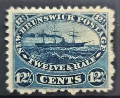 NEW BRUNSWICK 1860/63 - MLH - Sc# 10 - 12.5c - Gebruikt