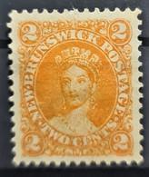 NEW BRUNSWICK 1863 - MLH - Sc# 7 - 2c - Gebruikt