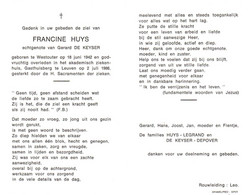 Francine Huys (1942-1986) - Images Religieuses