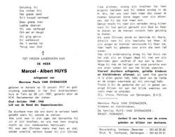 Marcel Albert Huys (1917-1987) ~ Oudstrijder (1940-1945) - Images Religieuses