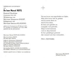 Marcel Huys (1911-1984) ~ Oudstrijder (1940-1945) - Images Religieuses