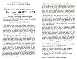 Marcel Huys (1919-1979) ~ Oudstrijder (1940-1945) - Images Religieuses