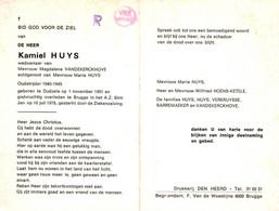 Kamiel Huys (1901-1978) ~ Oudstrijder (1940-1945) - Images Religieuses