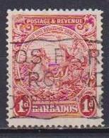 COLONIE INGLESI  BARBADOS 1925-32 SERIE ORDINARIA  YVERT. 143 USATO VF - Barbades (...-1966)