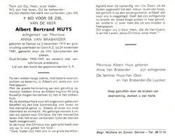 Albert Bertrand Huys (1914-1981) ~ Oudstrijder (1940-1945) - Images Religieuses