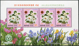 Korea 2011. Magnolia Sieboldii (MNH OG) Miniature Sheet - Korea (Nord-)