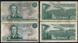 Luxemburg - Luxembourg 2 Stück á 10 Francs Banknoten 1967 Pick 53 F (4)  (14911 - Luxemburg