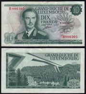 Luxemburg - Luxembourg 10 Francs Banknoten 1967 Pick 53 VF (3)  (14918 - Luxemburg