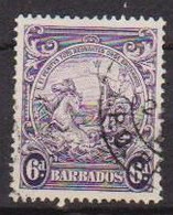 COLONIE INGLESI  BARBADOS 1938-41 SERIE ORDINARIA  YVERT. 173A  USATO VF - Barbades (...-1966)