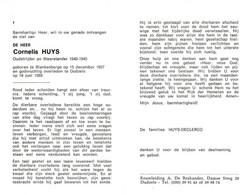 Cornelis Huys (1907-1989) ~ Oudstrijder (1940-1945) - Images Religieuses