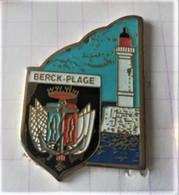 PIN'S - BERCK-PLAGE - Blason Et Phare - EGF - Villes