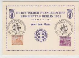 Vorlage Des III. Deutscher Evangelischer Kirchentag + Stempel - Storia Postale