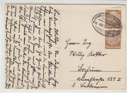 BAHNPOST HAMM - W.ELBERFELD Zug 62 9.5.36 AK-Hohensyburg - Covers & Documents