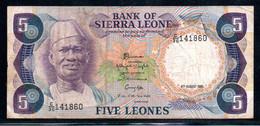 329-Sierra Leone 5 Leones 1985 C30 Contremarque - Sierra Leone