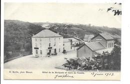 Falaën - Hotel De La Molignée Et Gare. - Onhaye