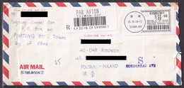 TAIWAN. 1994/Pingtung, Registered-letter, Envelope/mixed Franking. - Briefe U. Dokumente