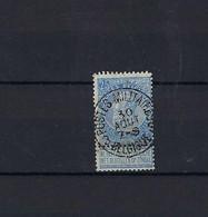 N°60 GESTEMPELD Postes Militaires 3 Belgique COBA € 37,50 SUPERBE - 1893-1900 Thin Beard