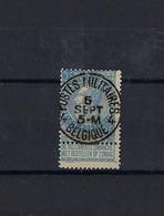 N°60 GESTEMPELD Postes Militaires 4 Belgique COBA € 25,00 SUPERBE - 1893-1900 Thin Beard