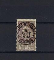 N°61 GESTEMPELD Postes Militaires 4 Belgique COBA € 25,00 SUPERBE - 1893-1900 Thin Beard