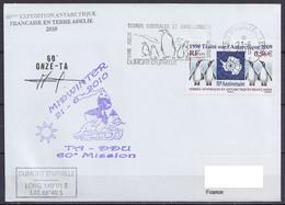 TAAF - Terre Adélie - MIDWINTER 2010 + Gérant Postal TA60 Flam. Dumont D'Urville 21-06-2010 - Covers & Documents