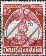 4750 Mi.Nr. 587 Deutsches Reich (1935) Nürnberger Parteitag Gestempelt - Gebraucht