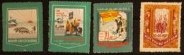 Lot Of 4 Different South Vietnam Viet Nam MNH Vignette Stamps - Viêt-Nam