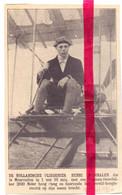 Orig. Knipsel Coupure Tijdschrift Magazine - Wereldrecord Piloot Aviateur Henri Wijnmalen - 1910 - Ohne Zuordnung
