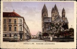 CPA Krefeld Am Niederrhein, Südstraße, Josefskirche - Otros