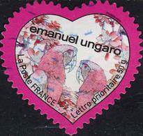 France Poste AA Obl Yv: 266 Yv:5 Euro Emanuel Ungaro (Lignes Ondulées) - Sellos Autoadhesivos