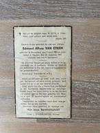 Edmond Alfons VAN EYKEN °WESPELAER 1885 +MUIZEN 1941 (WESPELAAR) - Todesanzeige