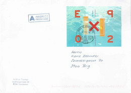 A Post Brief  Glattfelden - Brig  (Blockfrankatur)        2003 - Storia Postale