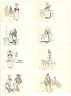 MORIN Henri - Rare Pochette Complète De 10 CPA - Provinces Françaises - (7679 ASO) - Morin, Henri