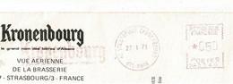 """EMA """"Kronenbourg"""" Circ 1971, 050 - NA5140 - CP , Format 150 X 210 Mm - Vue Aérienne Brasserie, Strasbourg, 67 - EMA (Printer Machine)"""