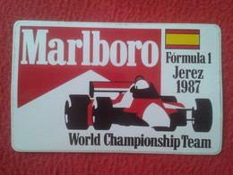 SPAIN SPANIEN PEGATINA ADHESIVO STICKER FORMULA 1 F1 JEREZ 1987 MARLBORO GRAN PREMIO GRAND PRIX WORLD CHAMPIONSHIP TEAM. - Aufkleber