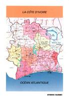 CPM - CÔTE D'IVOIRE - Carte Géographique Du Pays … (Affranchissement TP) - Côte-d'Ivoire
